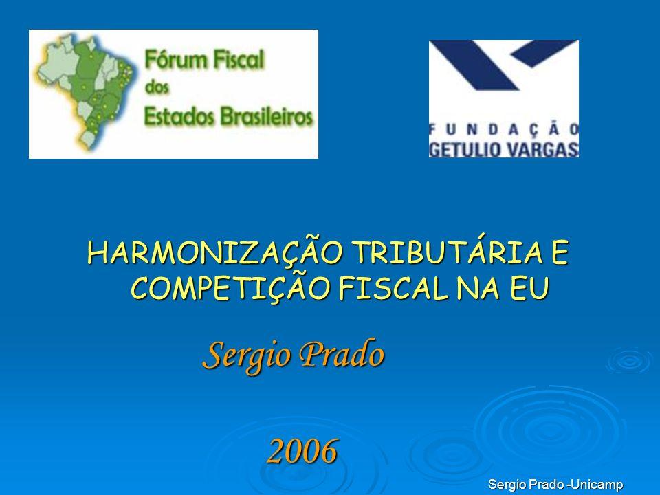 HARMONIZAÇÃO TRIBUTÁRIA E COMPETIÇÃO FISCAL NA EU