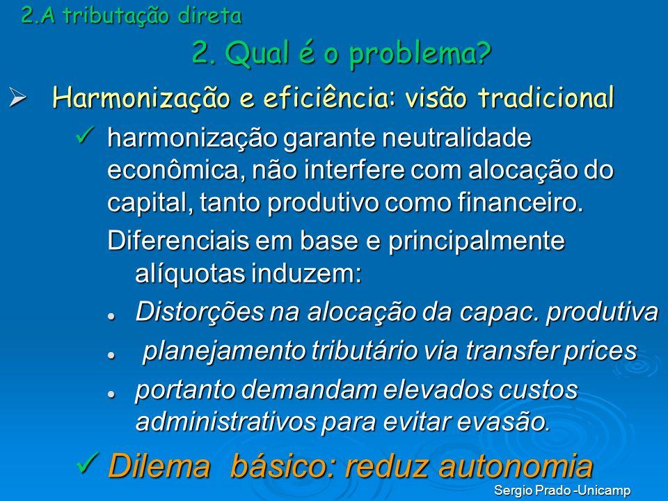 Dilema básico: reduz autonomia
