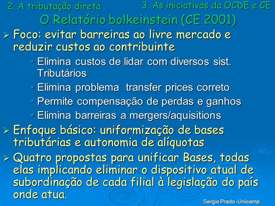 O Relatório bolkeinstein (CE 2001)