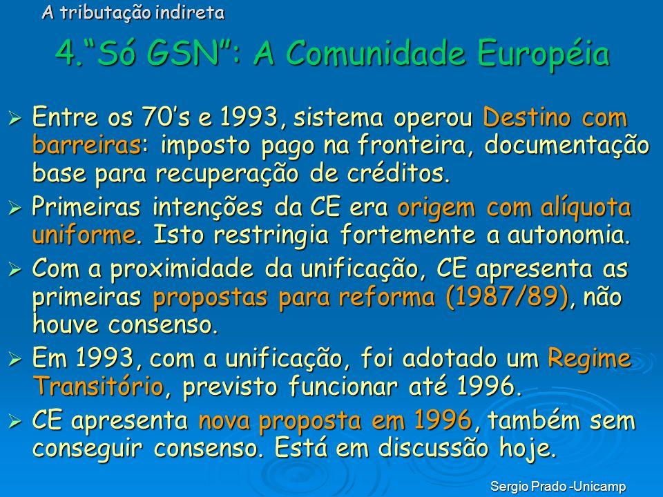 4. Só GSN : A Comunidade Européia