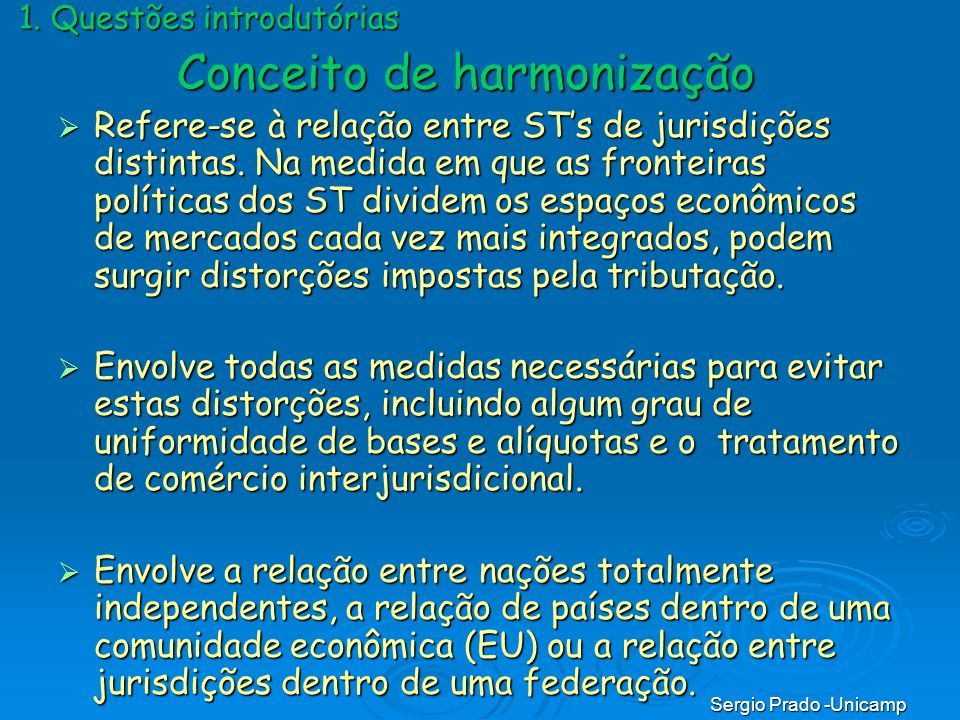 Conceito de harmonização