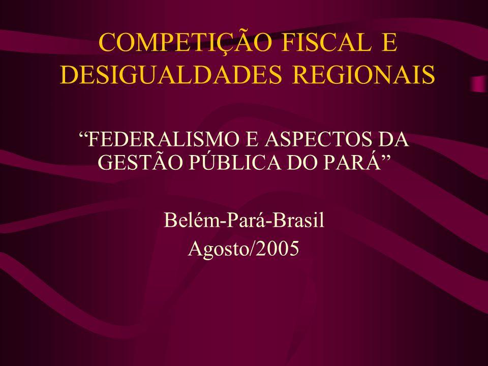 COMPETIÇÃO FISCAL E DESIGUALDADES REGIONAIS