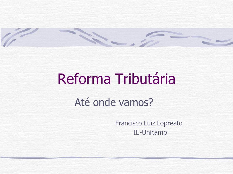 Até onde vamos Francisco Luiz Lopreato IE-Unicamp