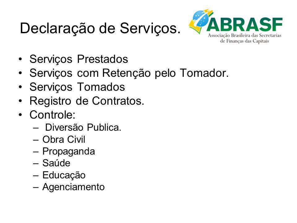 Declaração de Serviços.