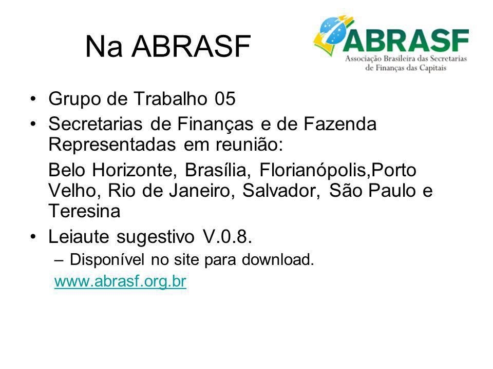 Na ABRASF Grupo de Trabalho 05
