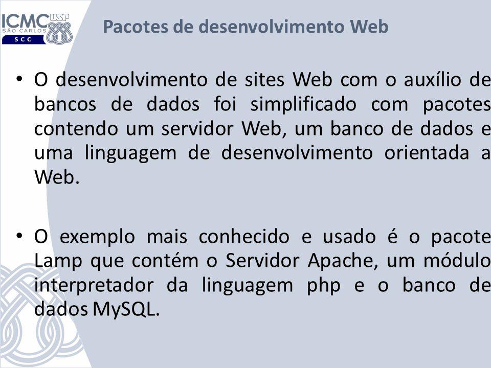 Pacotes de desenvolvimento Web