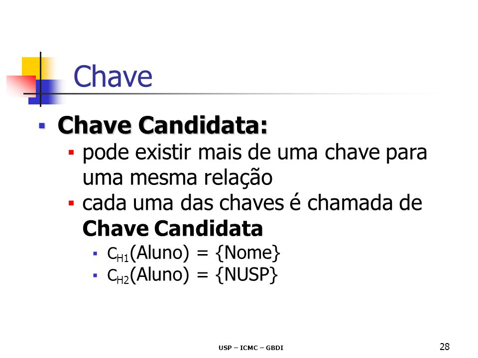 Chave Chave Candidata: