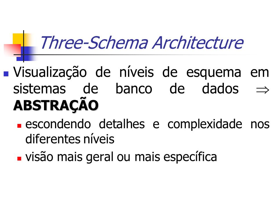 Three-Schema Architecture