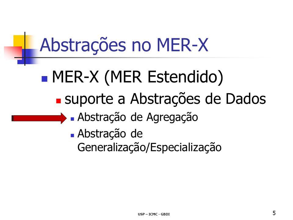 Abstrações no MER-X MER-X (MER Estendido)