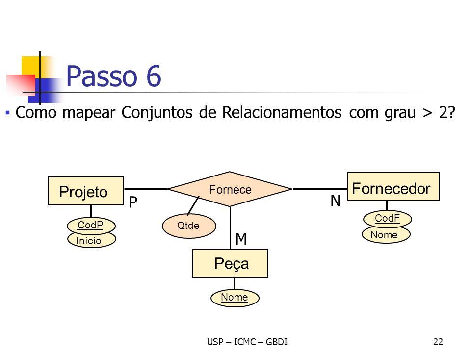 Passo 6 Como mapear Conjuntos de Relacionamentos com grau > 2