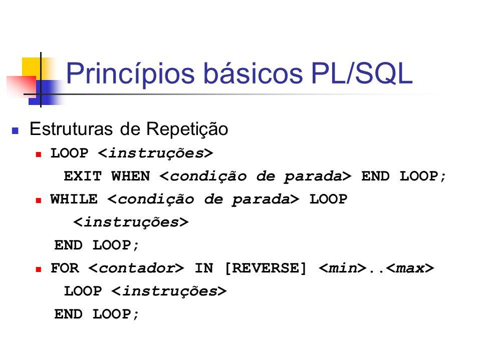 Princípios básicos PL/SQL