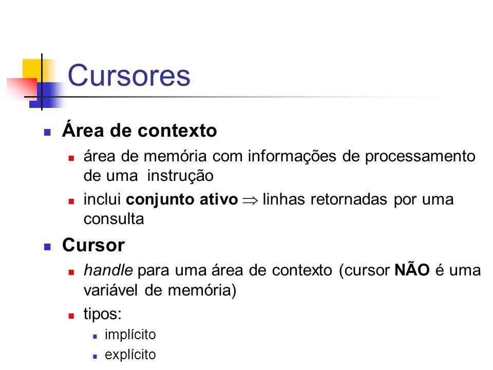 Cursores Área de contexto Cursor