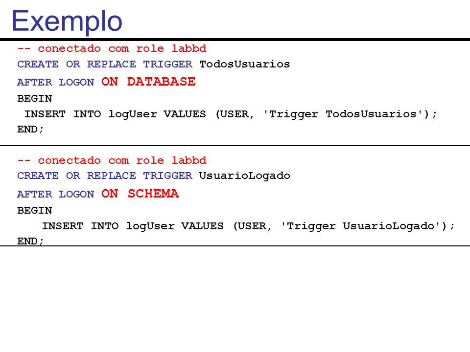 Exemplo -- conectado com role labbd