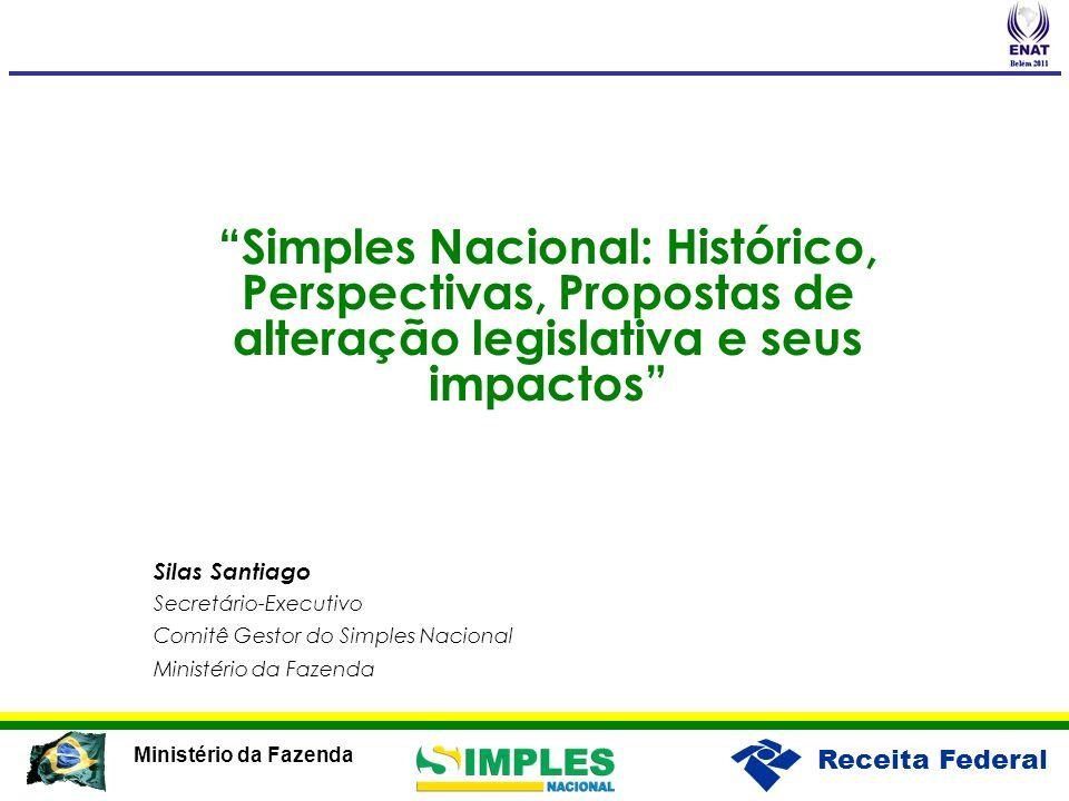 Simples Nacional: Histórico, Perspectivas, Propostas de alteração legislativa e seus impactos