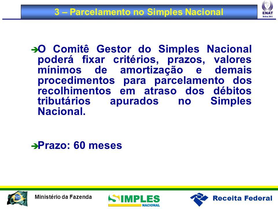 3 – Parcelamento no Simples Nacional