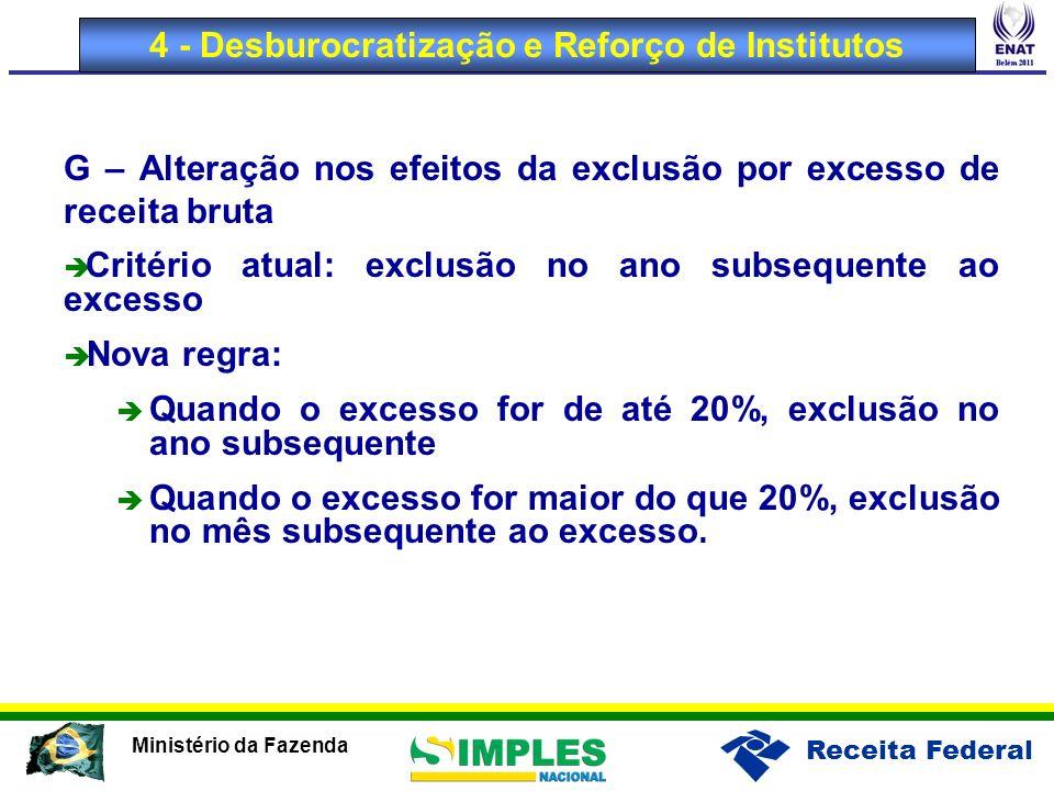 4 - Desburocratização e Reforço de Institutos