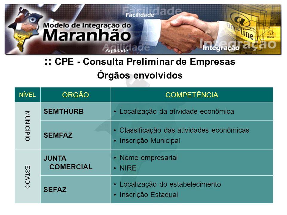 :: CPE - Consulta Preliminar de Empresas