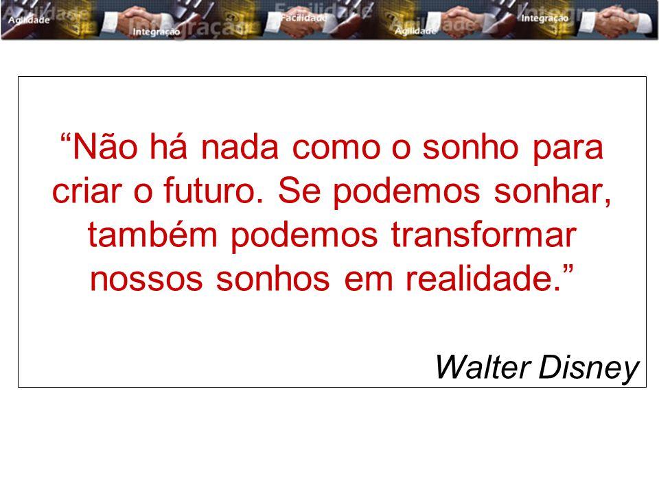 Não há nada como o sonho para criar o futuro