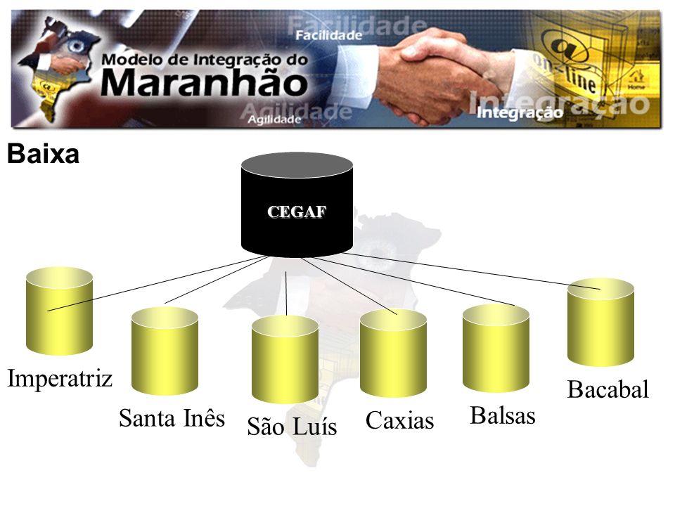 Baixa CEGAF Imperatriz Bacabal Santa Inês Balsas Caxias São Luís