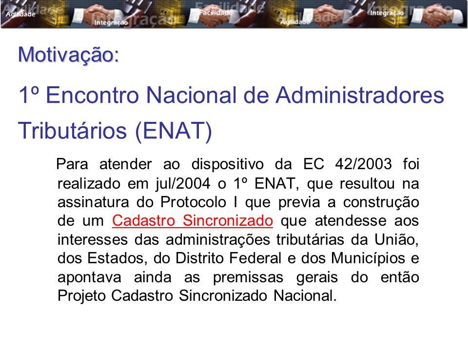 1º Encontro Nacional de Administradores Tributários (ENAT)