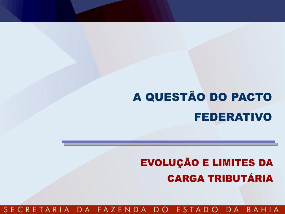 A QUESTÃO DO PACTO FEDERATIVO EVOLUÇÃO E LIMITES DA CARGA TRIBUTÁRIA