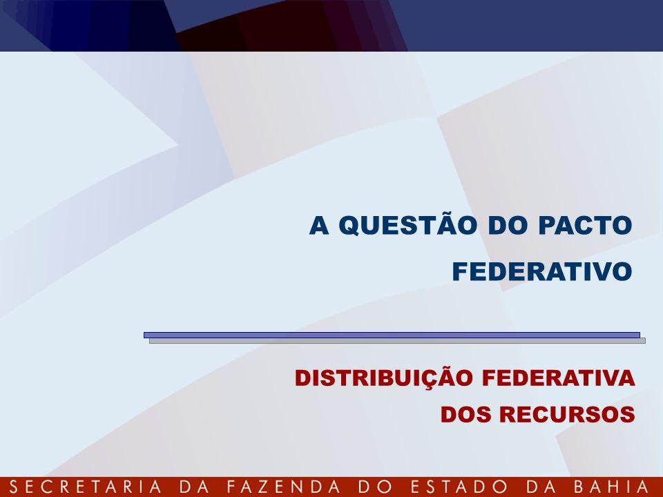 A QUESTÃO DO PACTO FEDERATIVO DISTRIBUIÇÃO FEDERATIVA DOS RECURSOS