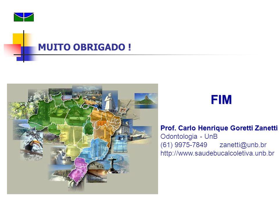 MUITO OBRIGADO ! FIM. Prof. Carlo Henrique Goretti Zanetti Odontologia - UnB.