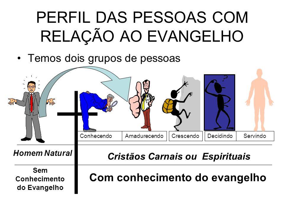 PERFIL DAS PESSOAS COM RELAÇÃO AO EVANGELHO