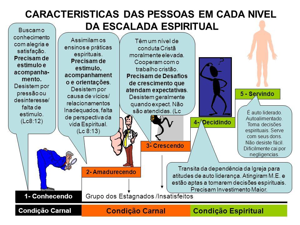 CARACTERISTICAS DAS PESSOAS EM CADA NIVEL DA ESCALADA ESPIRITUAL