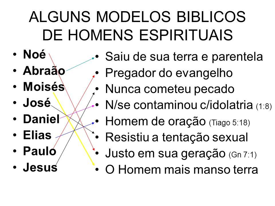 ALGUNS MODELOS BIBLICOS DE HOMENS ESPIRITUAIS