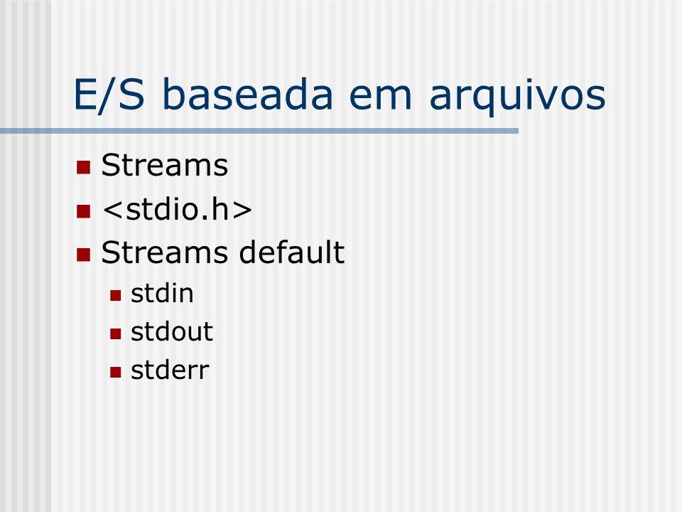 E/S baseada em arquivos