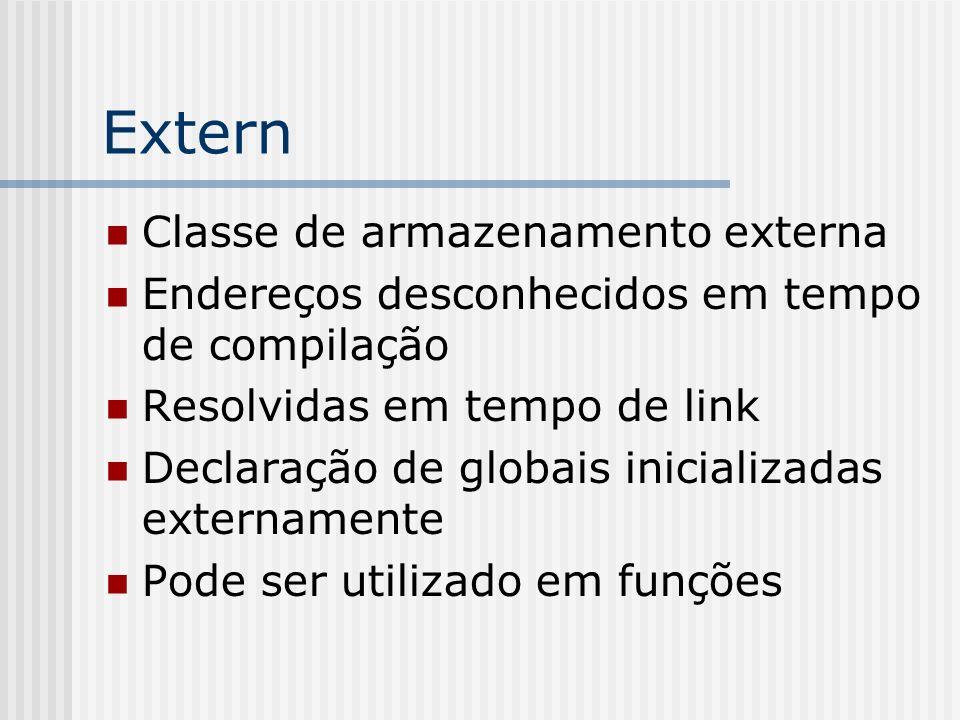 Extern Classe de armazenamento externa
