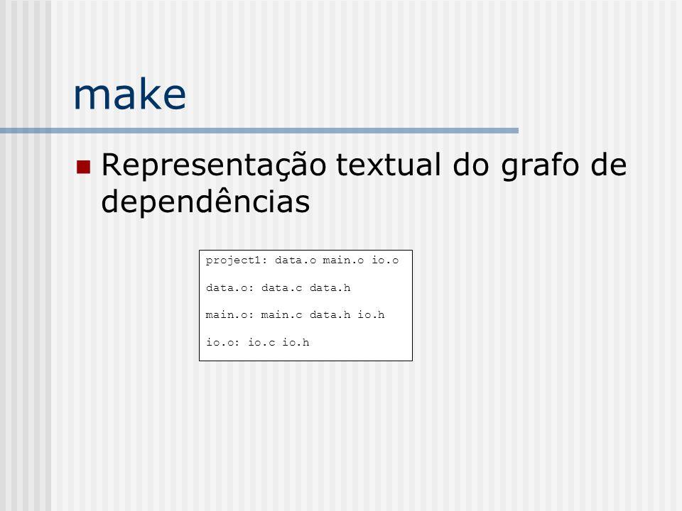 make Representação textual do grafo de dependências