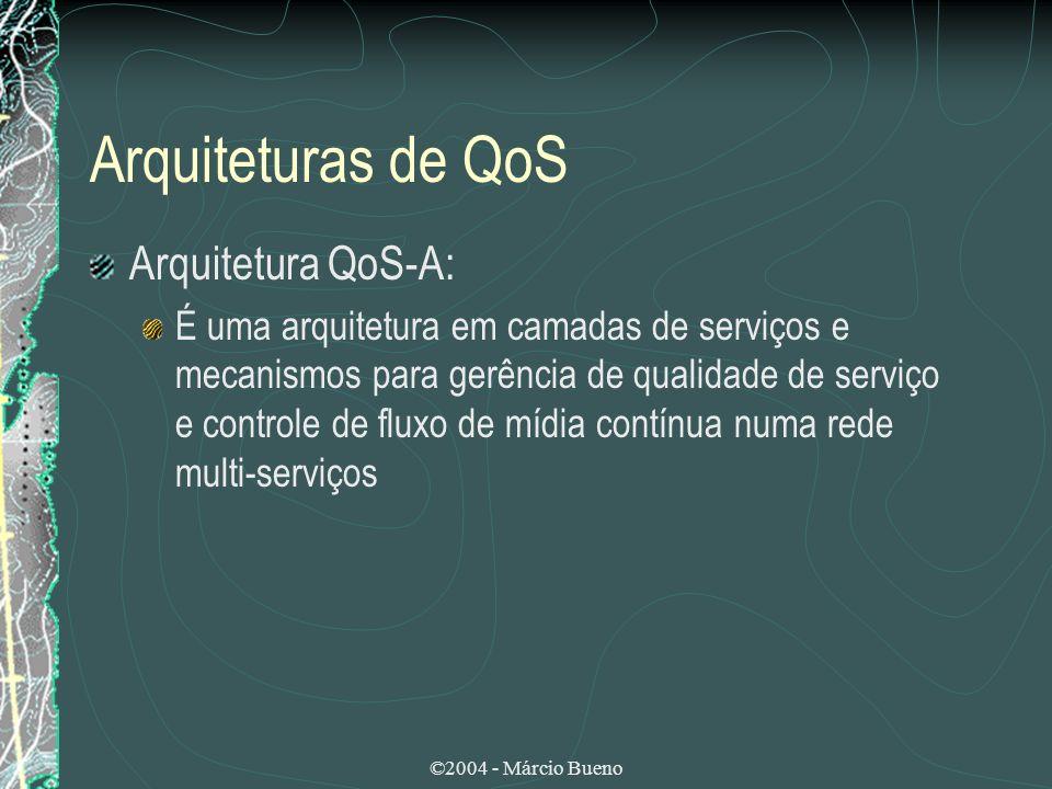 Arquiteturas de QoS Arquitetura QoS-A: