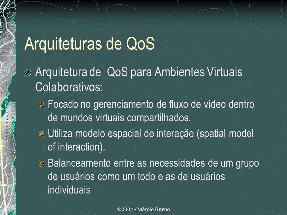 Arquiteturas de QoS Arquitetura de QoS para Ambientes Virtuais Colaborativos: