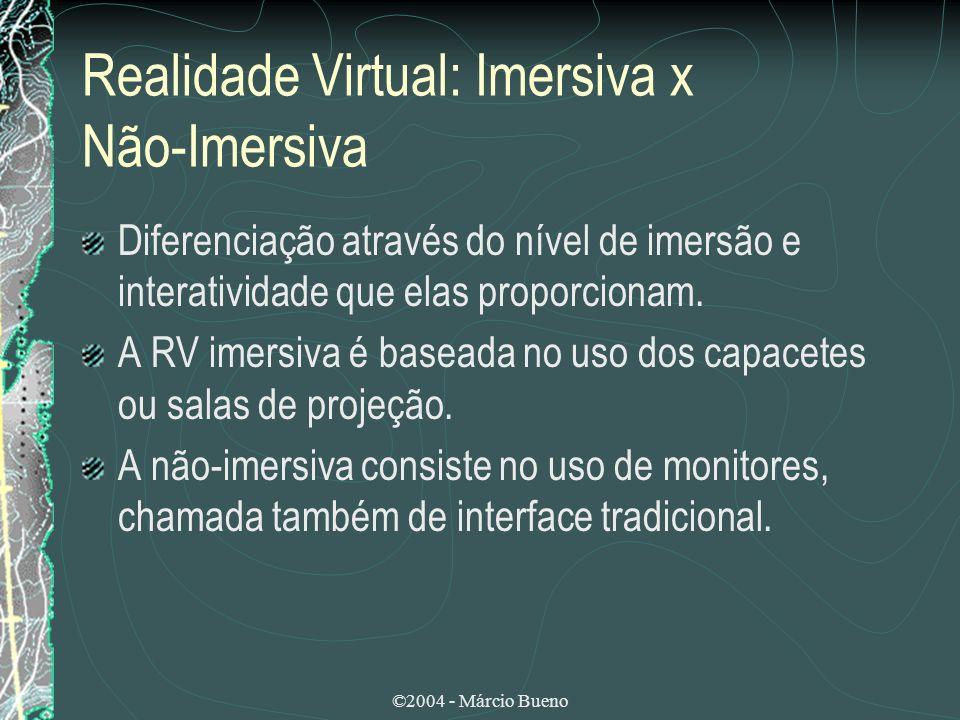Realidade Virtual: Imersiva x Não-Imersiva