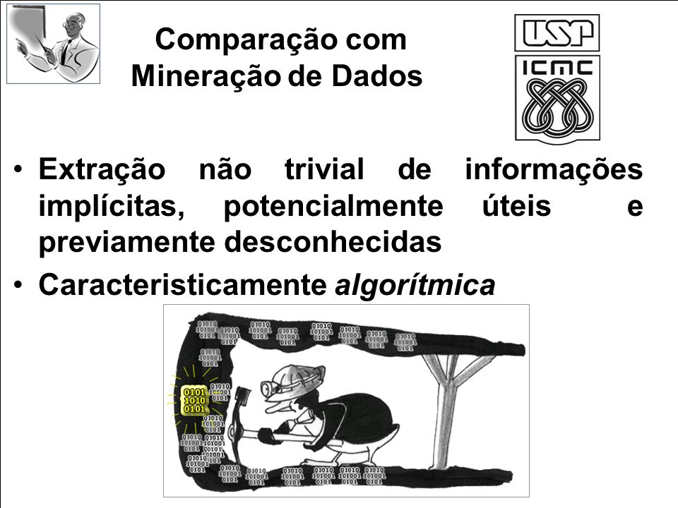 Comparação com Mineração de Dados