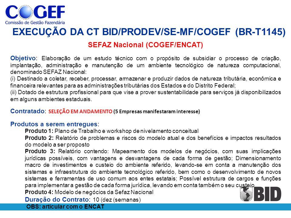 SEFAZ Nacional (COGEF/ENCAT)