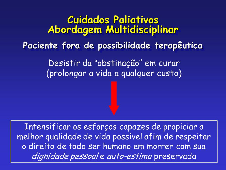 Cuidados Paliativos Abordagem Multidisciplinar