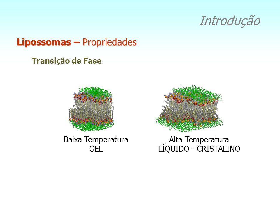 Introdução Lipossomas – Propriedades Tamanhos SUV 20-100nm