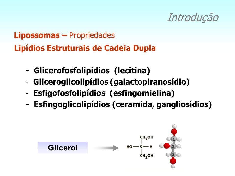 Introdução Lipossomas – Propriedades