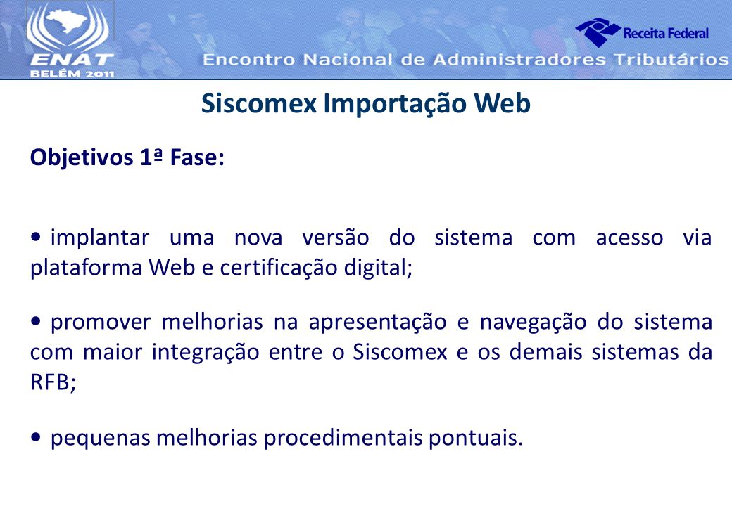 Siscomex Importação Web