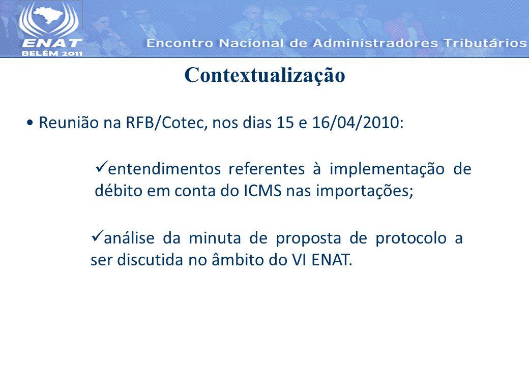 Contextualização Reunião na RFB/Cotec, nos dias 15 e 16/04/2010: