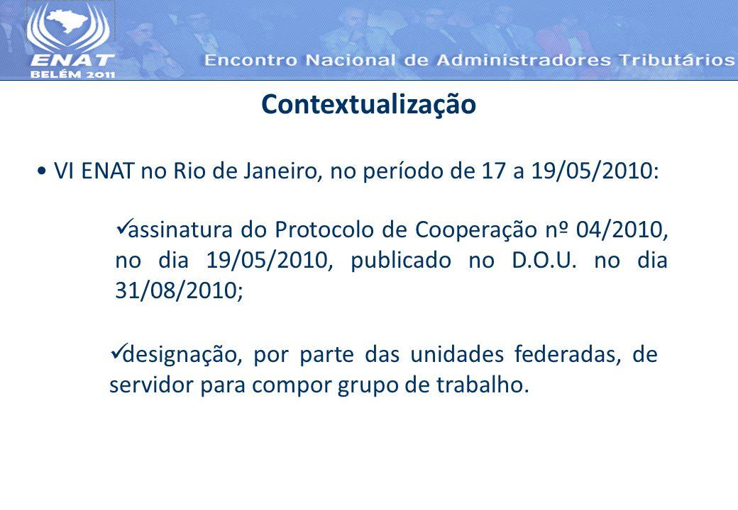Contextualização VI ENAT no Rio de Janeiro, no período de 17 a 19/05/2010:
