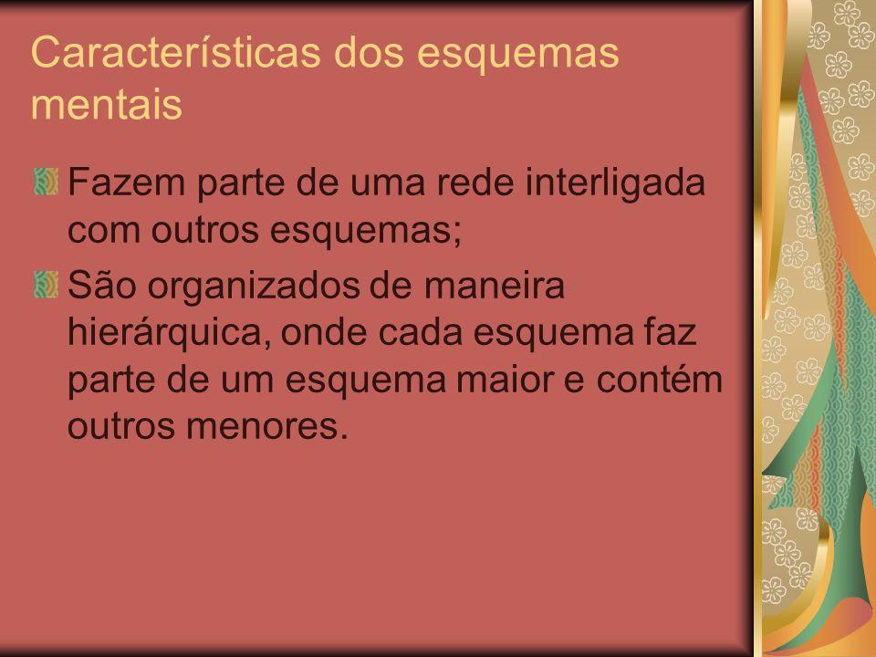 Características dos esquemas mentais