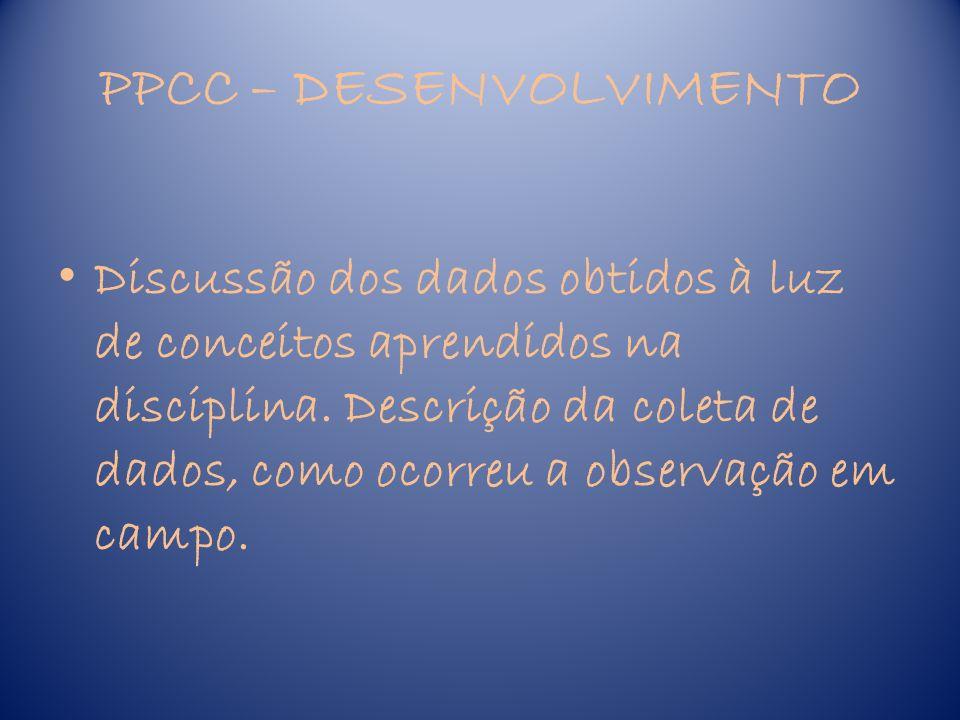 PPCC – DESENVOLVIMENTO