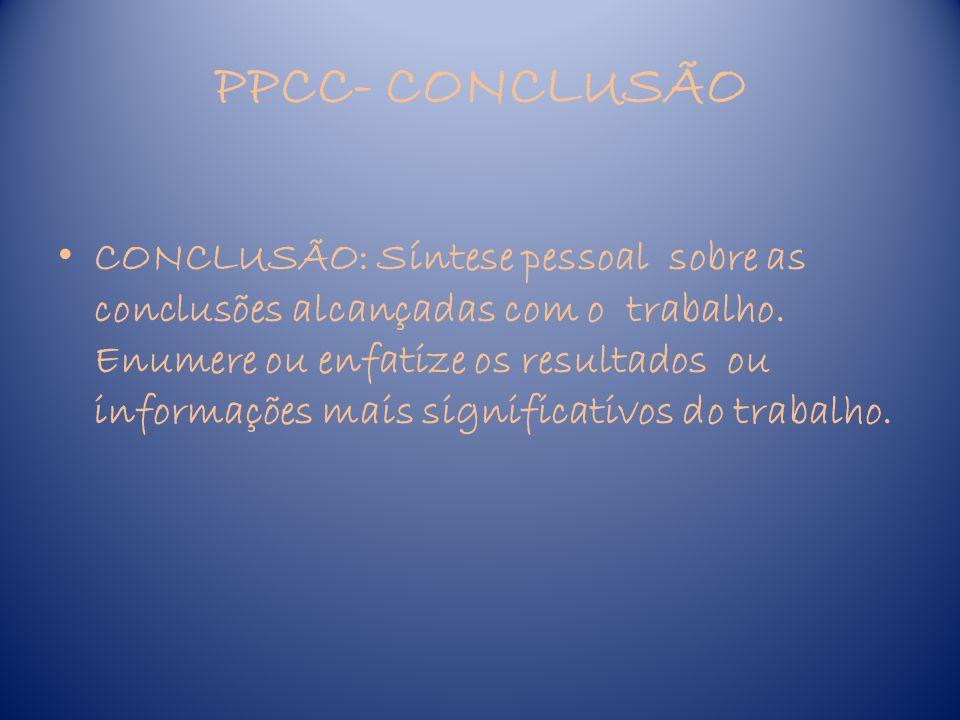 PPCC- CONCLUSÃO