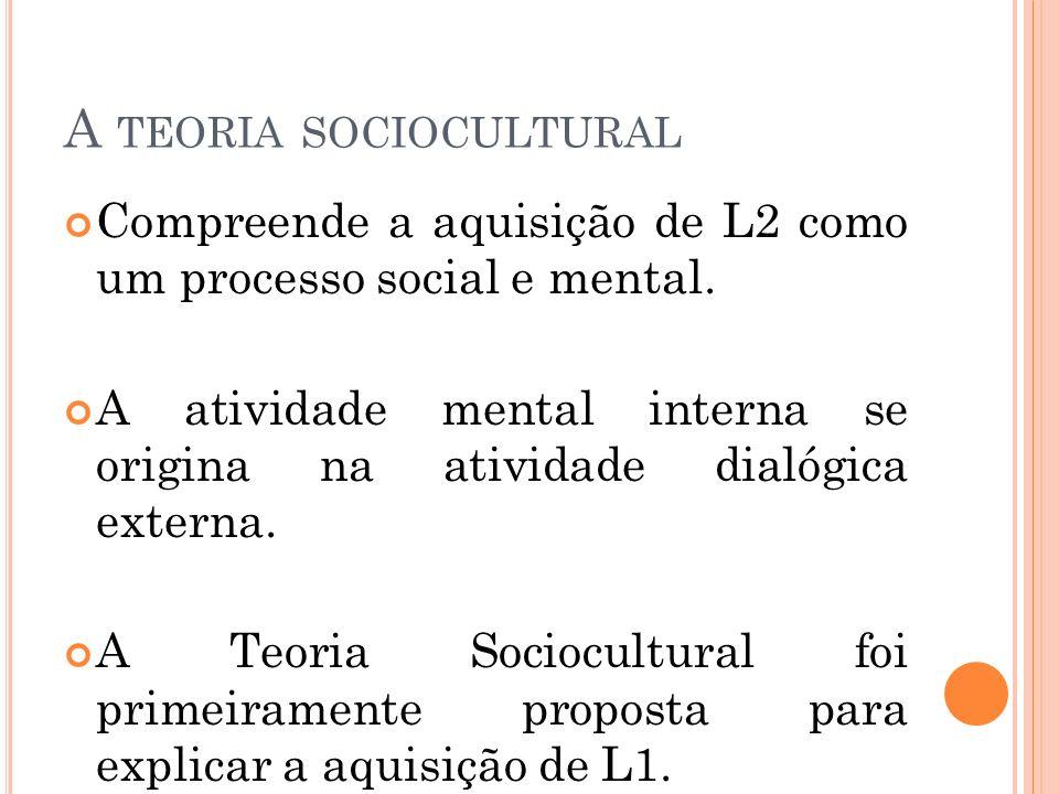 A teoria sociocultural