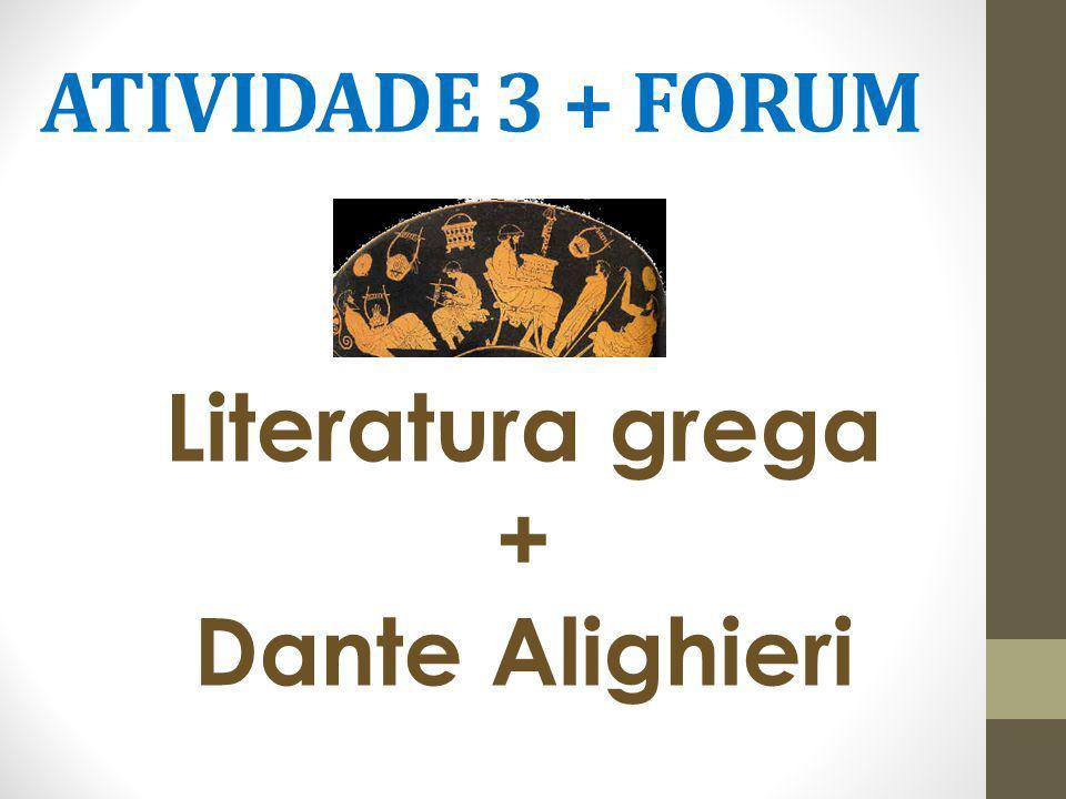 Literatura grega + Dante Alighieri
