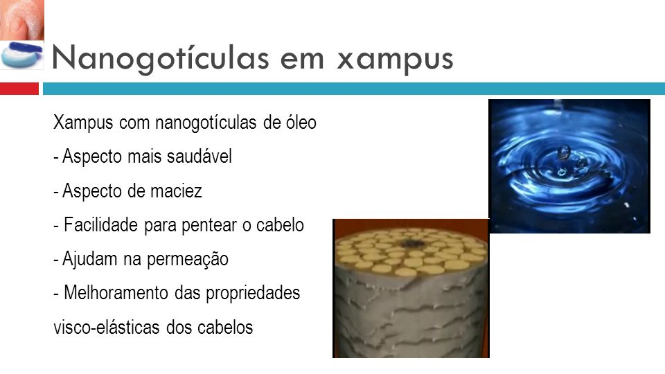 Nanogotículas em xampus